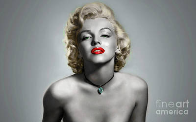 Photograph - Marilyn Monroe Pop Art by Doc Braham