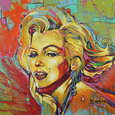 Beverly Hills Painting - Marilyn Monroe - Pop Art - Hollywood Icon by Damon Gray
