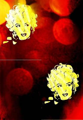 Digital Art - Marilyn Monroe Pop Art by Femina Photo Art By Maggie