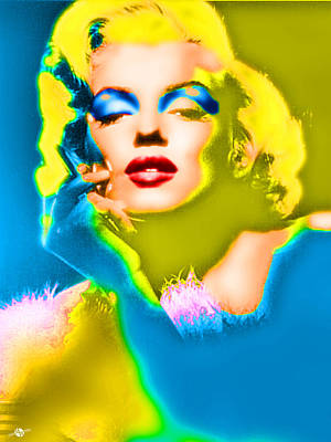 Photograph - Marilyn Monroe Pop by Tony Rubino