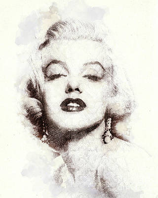 Marilyn Monroe Portrait 02 Art Print by Pablo Romero