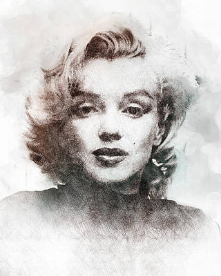 Marilyn Monroe Portrait 04 Art Print