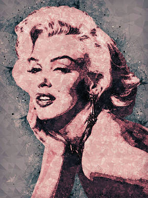 Portraits Mixed Media - Marilyn Monroe Portrait by Studio Grafiikka