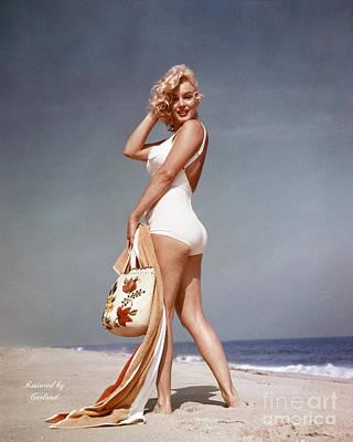 Beach Mixed Media - Marilyn Monroe Restored  by Garland Johnson