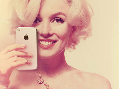 Photograph - Marilyn Monroe Selfie 1 by Tony Rubino