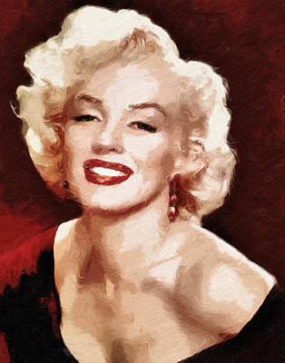 Painting - Marilyn Monroe Semi Abstract by Georgiana Romanovna