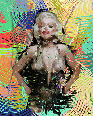 Digital Art - Marilyn Monroe by Sir Josef - Social Critic -  Maha Art