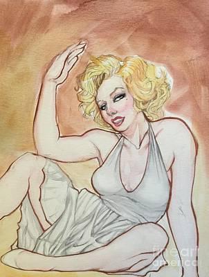Painting - Marilyn Monroe Sketch by Jimmy Adams