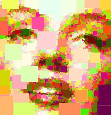 Painting - Marilyn Monroe - Squares by Samuel Majcen