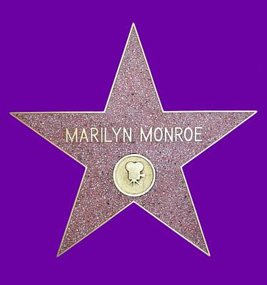 Photograph - Marilyn Monroe Star From Walk Of Fame by Ericamaxine Price