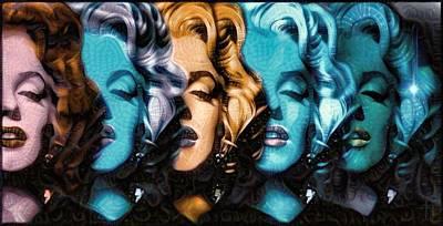 Marilyn Painting - Marilyn Monroe Stars And Dreams  by Daniel Arrhakis