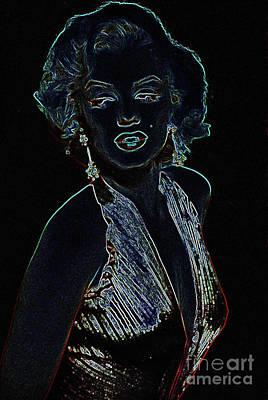 Digital Art - Marilyn Monroe by Steven Parker