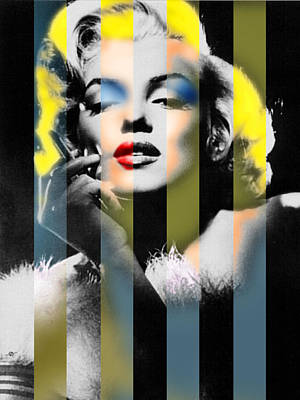 Painting - Marilyn Monroe Stripes by Tony Rubino