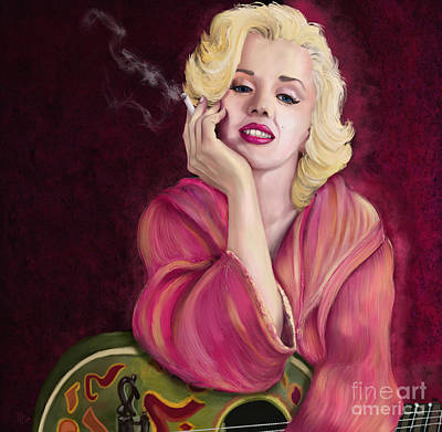Digital Art - Marilyn Monroe by Sydne Archambault