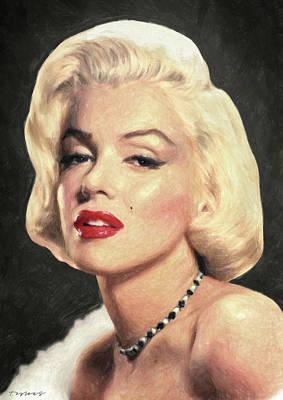 Painting - Marilyn Monroe by Taylan Apukovska