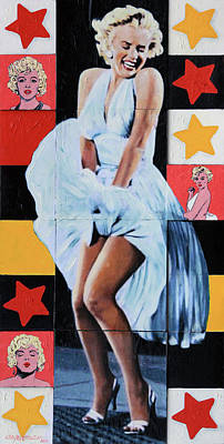 Painting - Marilyn Monroe The Star by John Lautermilch