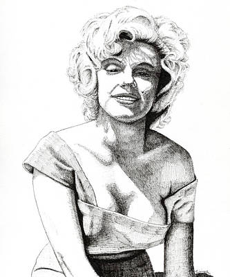 Drawing - Marilyn Monroe by Timothy Livingston