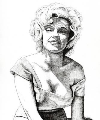 Drawing - Marilyn Monroe by Timothy Livingston