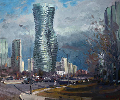 Marilyn Monroe Towers Mississauga Art Print by Ylli Haruni