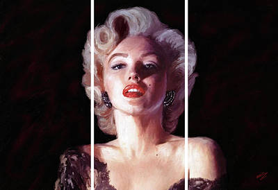 Digital Art - Marilyn Monroe Triptych by James Shepherd