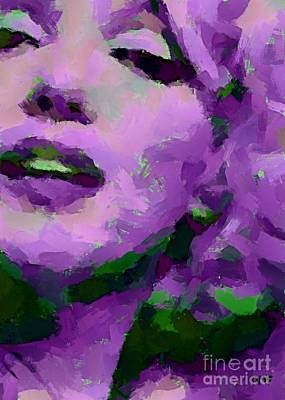 Marilyn Monroe In Purple Art Print