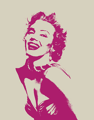 Actors Mixed Media - Marilyn Monroe Vector Pop Art Portrait by Design Turnpike