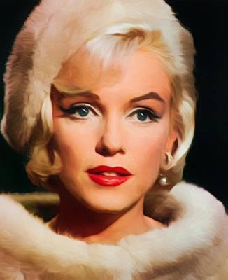Marilyn Monroe Art Print by Vincent Monozlay
