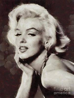 Actors Royalty-Free and Rights-Managed Images - Marilyn Monroe, Vintage Actress by Sarah Kirk