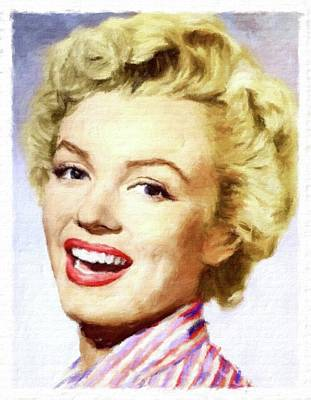 Actors Royalty-Free and Rights-Managed Images - Marilyn Monroe Vintage Hollywood Actress by John Springfield
