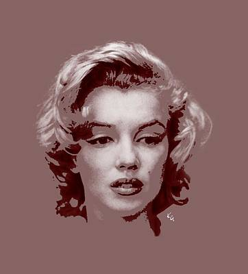 Digital Art - Marilyn Monroe Vintage by Kim Gauge