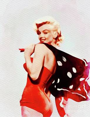 Actors Royalty-Free and Rights-Managed Images - Marilyn Monroe, Vintage Movie Star by John Springfield