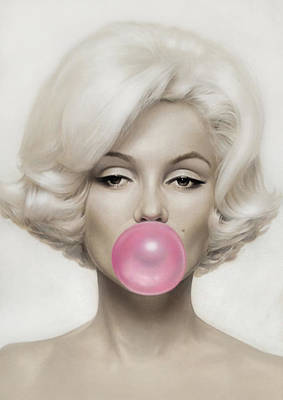 Poster Photograph - Marilyn Monroe by Vitor Costa