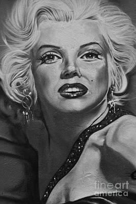 Anchor Down - Marilyn Monroe Wall     Street Art  by Urban Artful