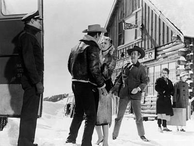 Photograph - Marilyn Monroe Western Scene by R Muirhead Art