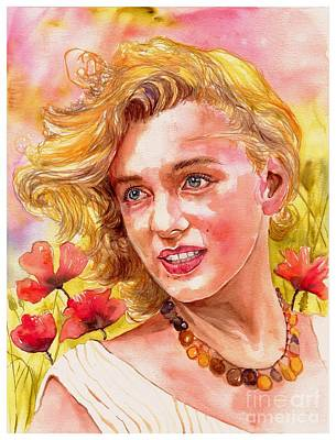 Marilyn Monroe With Poppies Original