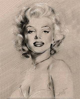 Monroe Drawing - Marilyn Monroe by Ylli Haruni