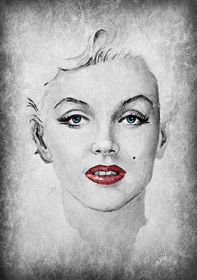 Marilyn Movie Star Edit Art Print