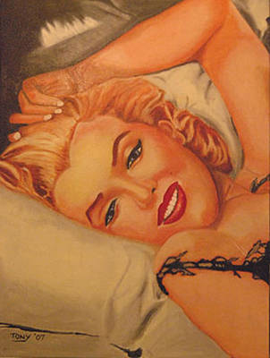 Marilyn Number One Art Print by Tony Hitch