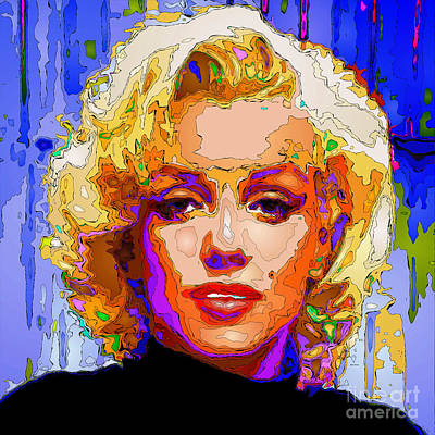 Digital Art - Marilyn Monroe. Pop Art by Rafael Salazar