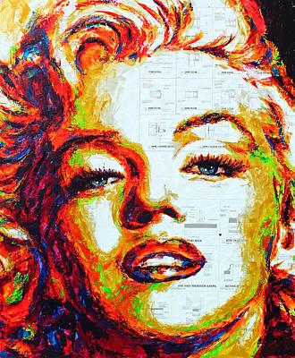 Painting - Marilyn Rainbow by Havi