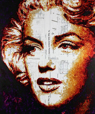 Painting - Marilyn Reconciliation by Havi