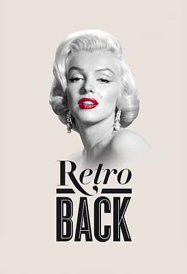 Marilyn Retro Back Print by Hans Wolfgang Muller Leg