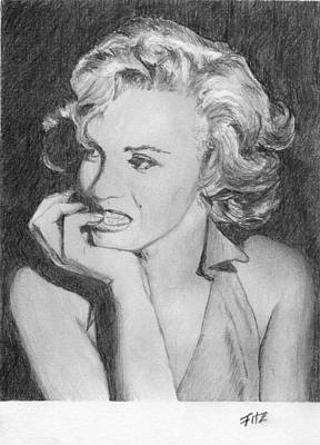 Drawing - Marilyn by Rick Fitzsimons