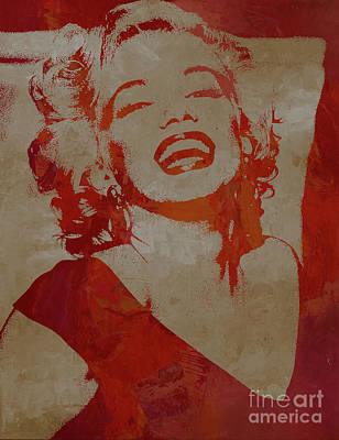 Painting - Marilyn Romantic by Gull G