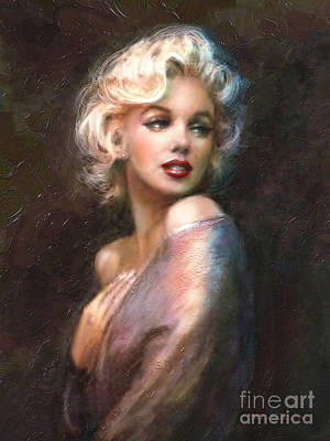 Actors Wall Art - Painting - Marilyn Romantic Ww 1 by Theo Danella