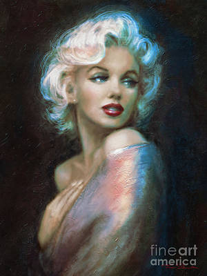 Marilyn Monroe Digital Art - Marilyn Romantic Ww 6 A by Theo Danella