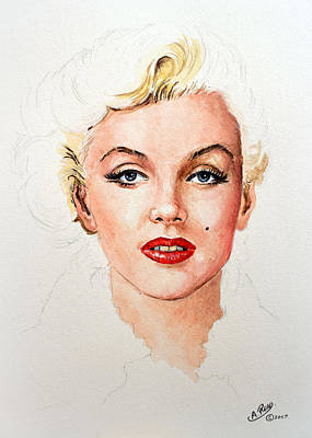Blonde Bombshell Painting - Marilyn Seductive Edit by Andrew Read