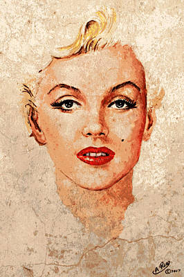 Marilyn Seductive Mix Art Print