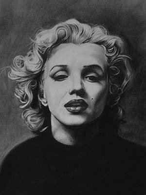 Marilyn Drawing - Marilyn by Steve Hunter