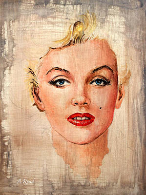 Painting - Marilyn Wash Effect by Andrew Read